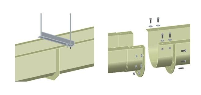 Монтажные узлы полимерных водоотводных лотков